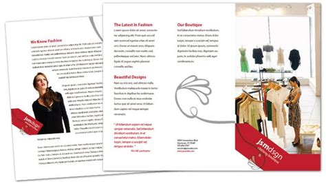 Brochure Design For Boutiques by Tri Fold Brochure Template For Clothing Boutique Fashion