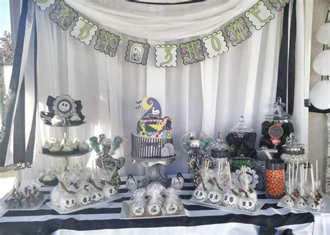 Nightmare Before Christmas Baby Shower Party Ideas