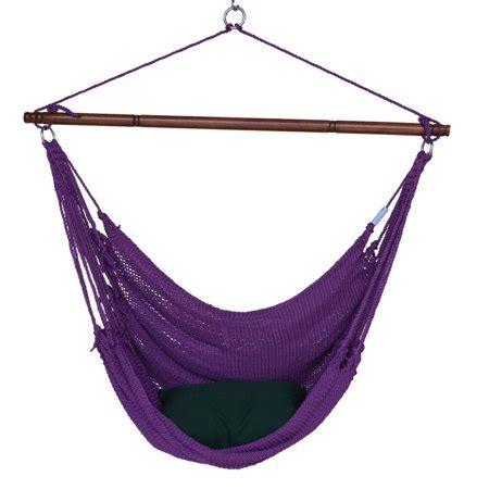 Hammock Chair With Footrest by Caribbean Hammocks Jumbo Woven Hammock Chair With