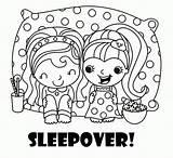 Sleepover Coloring Pages Pajama Spa Slumber Pajamas Printable Invitations Birthday Activity Cartoon Sleepovers Invitation Clip Themed Invitationsforsleepoverparty Re Invites Sleeping sketch template