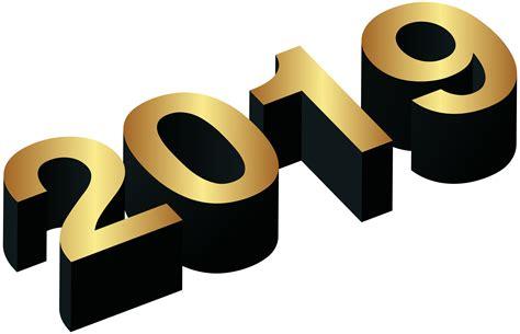 2019 Gold Black Png Clip Art Image