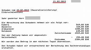Versicherung Abrechnung Nach Kostenvoranschlag : einbruch diebstahl einbruchdiebstahl ~ Themetempest.com Abrechnung