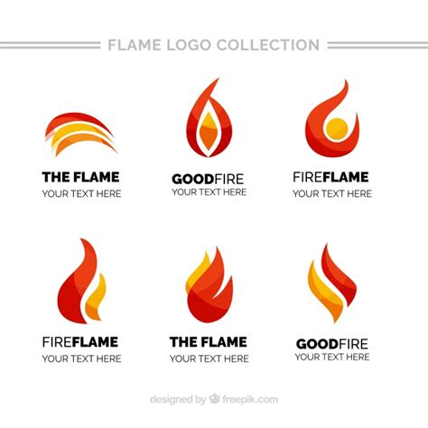 different color flames pack of logos with different colors vector free
