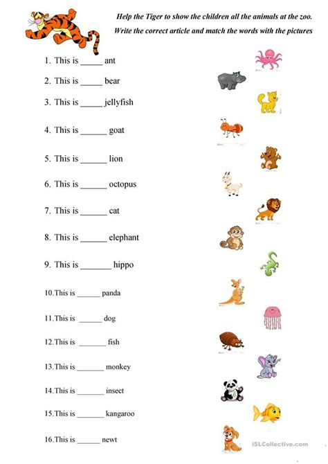 abc animals practice worksheet  esl printable