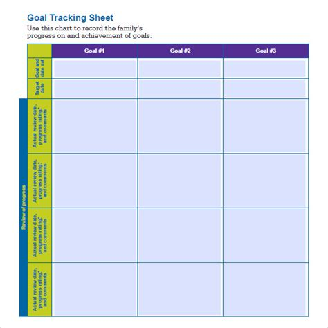 Tracking Sheet Template Word by 8 Goal Tracking Sles Sle Templates