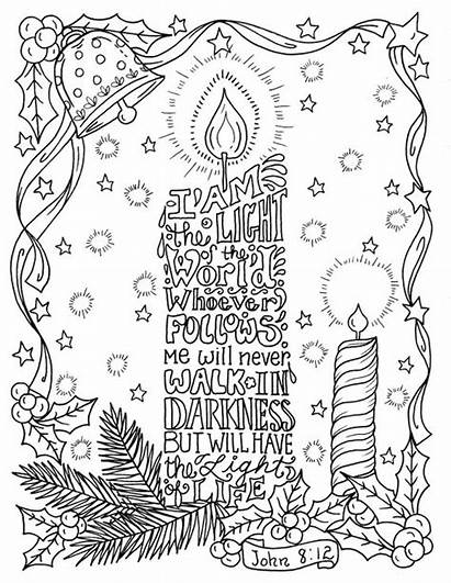 Coloring Christian Christmas Candle Scripture