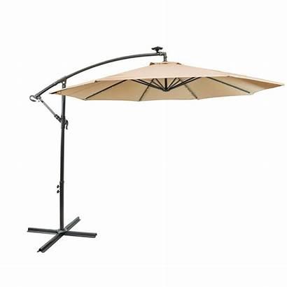 Cantilever Umbrella Patio Solar Ft Pole Aluminum