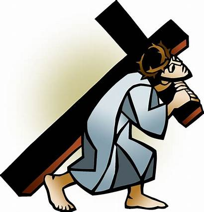 Clip Clipart Carries Carrying Cross Friday Icon1
