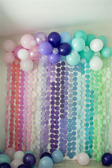 diy mermaid party backdrop tangled  andereggs