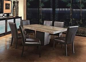 Table A Manger Marbre : jc perreault salle manger contemporaine jcp table de marbre travertin ~ Teatrodelosmanantiales.com Idées de Décoration