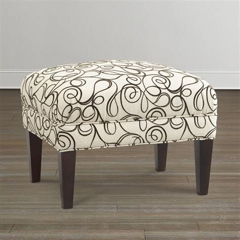 Upholstered Ottoman by Contemporary Upholstered Ottoman Bassett Furniture