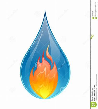 Fire Water Vector Concept Background Illustration
