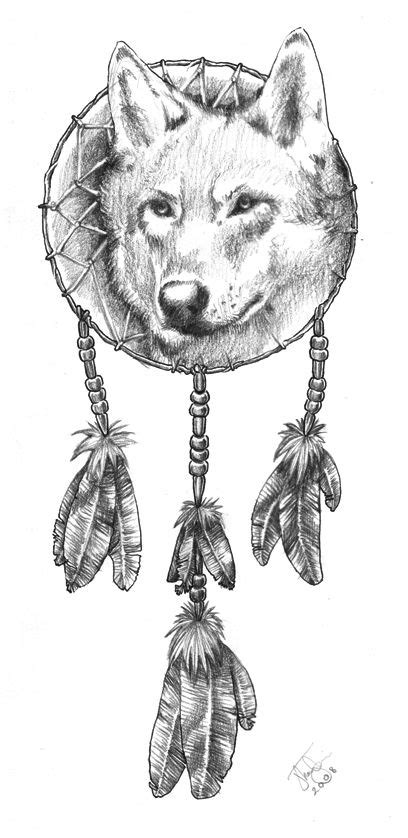 Animal Coloring Pages Dream Catchers | Dreamcatcher Wolfquot By Joel Thongbai | Wolves