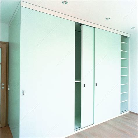 Cupboard Sliding Door Systems by System For Sliding Cabinet Doors With Flush Mounting Hawa