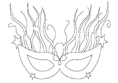 fantasie karneval maske malvorlagen