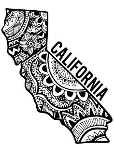 California+state+outline+with+bear | Classroom Ideas | Pinterest | State outline