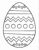 Coloring Easter Egg Template Printable sketch template