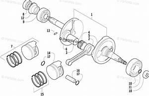Arctic Cat Atv 2004 Oem Parts Diagram For Crankshaft Assembly