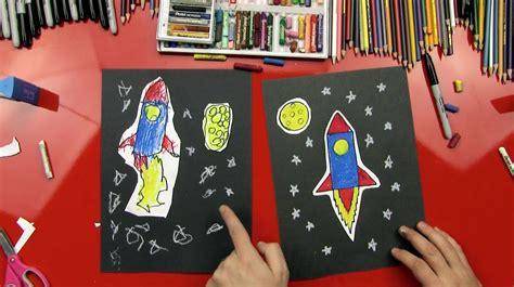 draw  rocket young artists art  kids hub