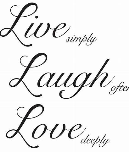 Laugh Wall Decal Quote Decals Quotes Words