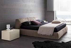 Lacquered Made In Italy Nano Fabric Elite Platform Bed