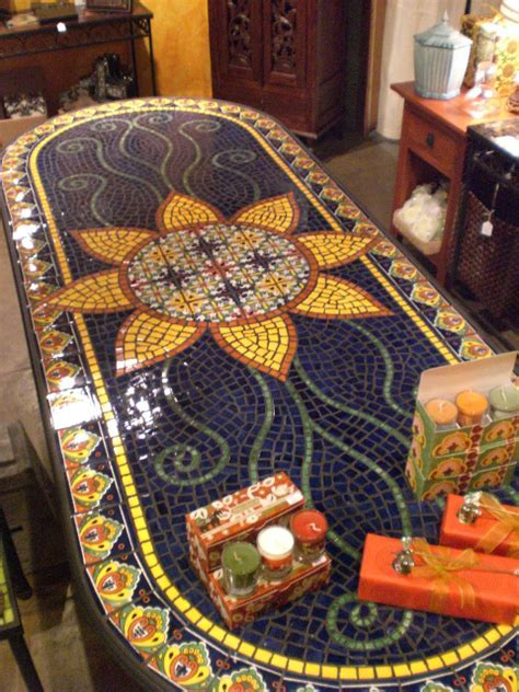 Dining Table Furniture: Mosaic Tile Dining Tables