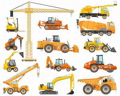 Construction Equipment Mining Heavy Machines Machinery Vector