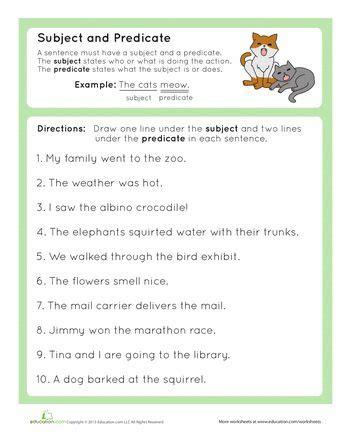 grammar basics subject  predicate subject