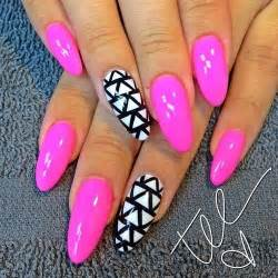 Pink pointy nails pretty