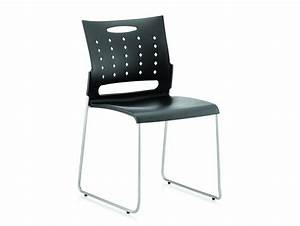 Dynamo Slide Stackable Visitor Chair in Black | Radius Office