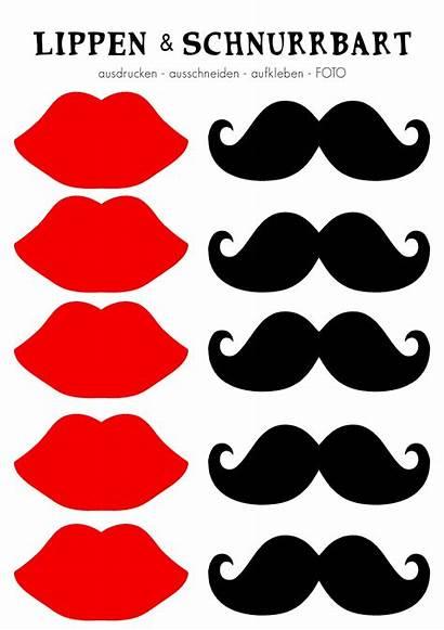 Schnurrbart Lippen Fotobox Zum Props Verkleidung Kleben