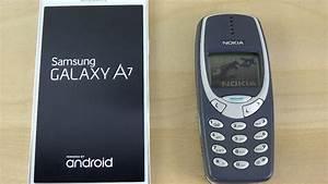 Samsung Galaxy A7 Vs  Nokia 3310