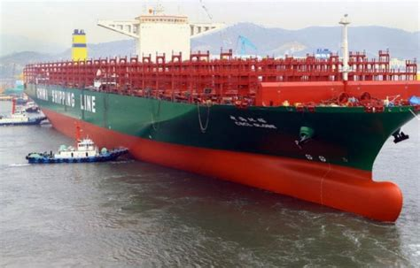 plus grand porte conteneur du monde china shipping baptise le plus grand porte conteneurs du monde