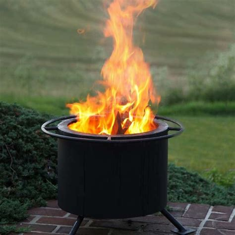 double flame smokeless fire pit wood burning fire pit