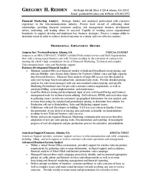 Pricing Analyst Resume Template by Gregory Redden Resume Pricing Analyst