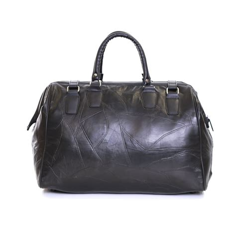 real leather travel cabin weekender hand luggage handbag