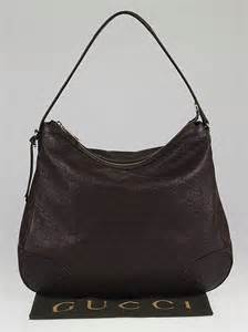 gucci ebony guccissima leather bree original hobo bag yoogis closet