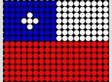 Chile flag Hama bead pattern