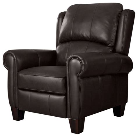 high quality top grain leather upholstered wingback