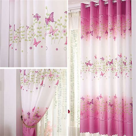 Sheer Voile Curtains Uk by Uk Butterfly Tulle Door Window Curtain Drape Panel Sheer