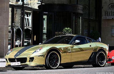 cool golden cars golden ferrari 599 gtb fiorano by hamann damn cool pictures