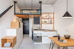 Mini Apartment Einrichten : tiny house inspired student housing transforms old office building treehugger ~ Markanthonyermac.com Haus und Dekorationen