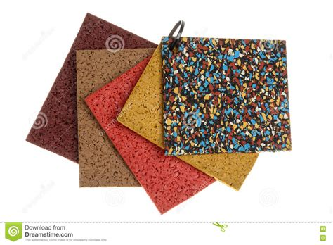 colored rubber flooring sles royalty free stock image