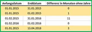 Datumsdifferenz Berechnen : excel datum differenz mit der funktion datedif berechnen ~ Themetempest.com Abrechnung