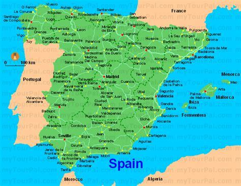 Carte D Espagne Avec Villes espagne carte g 233 ographique arts et voyages