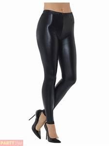 Ladies 80s Metallic Leggings Adult Disco Fancy Dress Costume Womens Retro Outfit | eBay