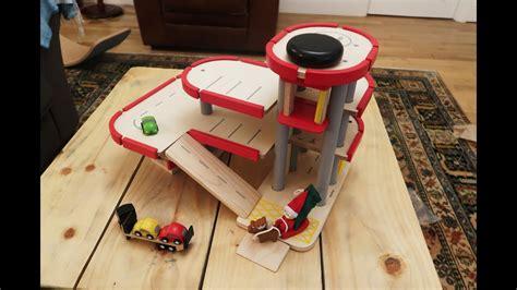 plan toys parking garage  youtube