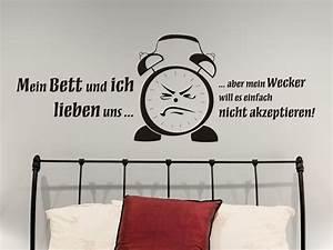 Bilder über Bett : lustiges wandtattoo mein wecker von ~ Watch28wear.com Haus und Dekorationen