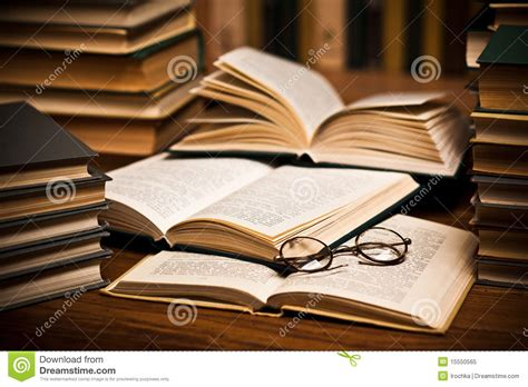 spectacles  open books royalty  stock photo image