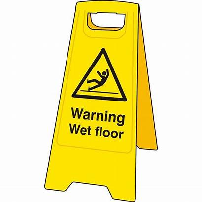 Wet Floor Sign Warning Clipart Stand Board